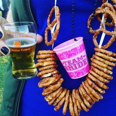 Beer pretzel necklaces for a beer fest!