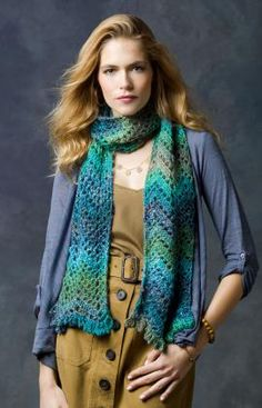 Shore Thing Scarf -- I love this pattern; it's perfect for Red Heart Boutique yarn!