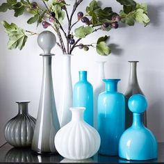 West Elm's new mid century glass vases