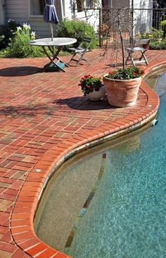 Attractive Colors For Pool Tiles With Brick Coping   Google Search Nice Look