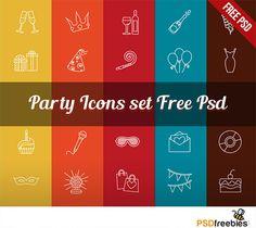 Классные иконки на тему вечеринок и развлечений.