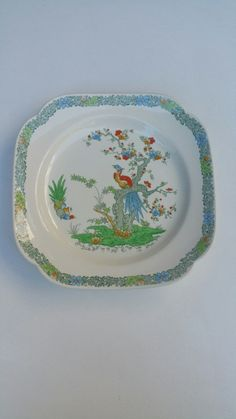 English Porcelain - A Spode Bermuda Cake Plate for sale in Durban (ID:233106103)