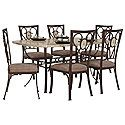 Brookside Rectangular Stone Table  4 Chairs