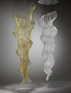 Leaf by Kudějová Fulínová Katarína - Lasvit Bespoke lighting @luxxu inspiration