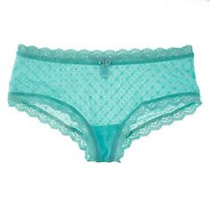The lace of this delicious, delirious French Brief comes in a rainbow of colors and looks gorgeous on the body (we especially love the sheer bum).