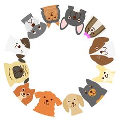 Small dogs circle vetor e ilustração royalty-free royalty-free Baby Dogs, Dogs And Puppies, Doggies, Cute Dog Drawing, Animals And Pets, Cute Animals, Sketch Manga, Dog Cafe, Dog Wallpaper