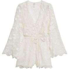 3740aed86b3 Zimmermann Wrap-effect fil coupé silk playsuit ( 1