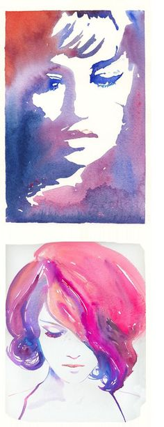 Love the beautiful colors in these watercolors by Cate Parr of Silver Ridge Studio. The bottom is my favorite.