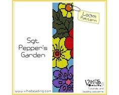 Loom Bracelet Pattern: Sgt Pepper's Garden - for cuff bracelet - INSTANT DOWNLOAD pdf - Multibuy savings with coupon codes - bl113
