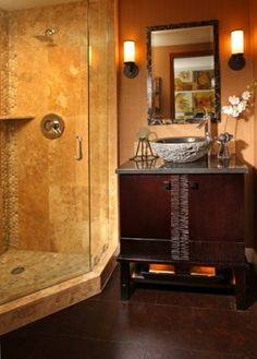 asian bathroom by Christine Diveley Interior Design
