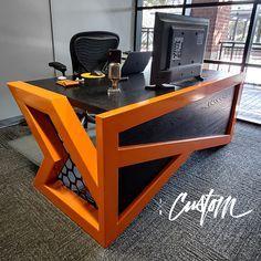 Welded Furniture, Iron Furniture, Steel Furniture, Industrial Furniture, Modern Home Office Furniture, Modern Desk, Diy Furniture Projects, Furniture Design, Handmade Desks