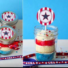 Cup cake in a jar