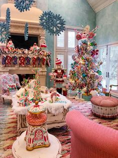 HGTV Celebrates Holiday-Decorating Obsession in 'Outrageous Holiday Houses' Candy Land Christmas, Whimsical Christmas, Christmas Mood, Beautiful Christmas, Vintage Christmas, Victorian Christmas, Blue Christmas, Xmas, Christmas Bedroom