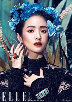 Ariel Lin in a Frida Kahlo Inspired Photoshoot for Elle Taiwan | DramaDreamLand