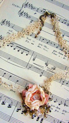 Victorian tatting and fabric flower necklace http://www.etsy.com/shop/tousleddolly