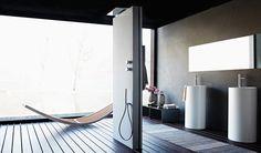 Design inspirations | Turn your bathroom into a dream spa | Fantini, shower panel Acquapura