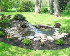42 Awesome Fish Ponds Design Ideas For Your Backyard Landscape. There are many sorts of ponds it's possible to build in your backyard. A little pond limits the amount of fish and plants you̵. Outdoor Fish Ponds, Fish Ponds Backyard, Backyard Water Feature, Outdoor Fountains, Water Fountains, Backyard Waterfalls, Garden Ponds, Koi Ponds, Garden Fountains