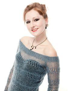 Precious Sweater Lace Pullover Sweater Free Knitting Pattern   More Lace Pullover Knitting Patterns at http://intheloopknitting.com/free-lace-pullover-knitting-patterns/