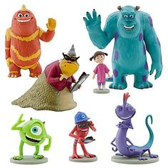 Disney Monsters Inc. Figure Play Set 7 Piece PVC Cake Topper by Disney. $21.90. For Ages 3+. Set of 7. Includes: James P. Sullivan, Mike Wazowski, Randall Boggs, George Sanderson, Fungus, Roz, Boo. Disney Authentic. Disney Monsters Inc. Figure Play Set 7 Piece PVC Cake Topper. Playtime is a scream with our Monsters, Inc. figurine set featuring seven favorite citizens of Monstropolis. Open the doorway to imagination for new adventures and thrilling surprises with this colorful ...