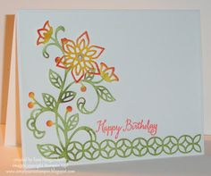 Simply Sara Stampin': Stampin' Up! ~ Sponged Florals