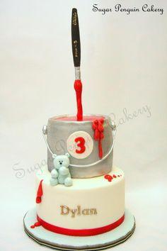Gravity-Defying+Art-themed+Birthday+Cake+-+Cake+by+Ivone+-+Sugar+Penguin+Cakery