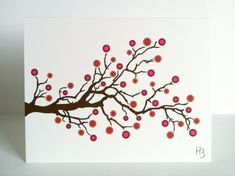 Nature Theme Note Card with Branches Tree by IdAndEgoCreations, $3.00