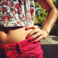 Love coral! #fashion #style #coral #bright #summer #sun #clothes