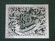 Samantha's Papercuts: Pink Wedding
