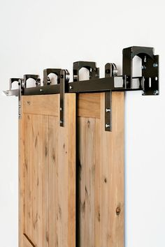 This is a BEAUTIFUL brand new made in america with premium steel bypass Industrial/classic barn door hardware set. (Lifetime Warranty)  Includes: