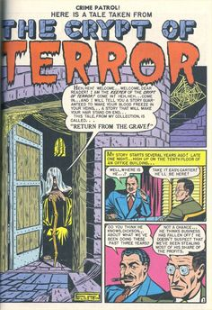the first appearance of the crypt keeper - al feldstein