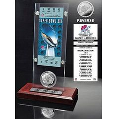 Highland Mint NFL® Super Bowl XXI Ticket and Game Coin Collection