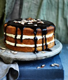This one's excellent for feeding a crowd, but if you're catering for a smaller group, cut the cake component down by a third. Make the full quantity of custard cream filling though – it won't go to waste.
