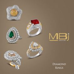 Exclusive diamond rings from MBj.