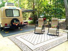 Cute Casita Travel Trailer Makeover. MrsPadillysTravels.com