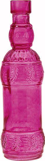 Pink Decorative Glass Bottle (Ms. B design) from lunabazaar.com