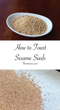 Toasted sesame seeds taste fantastic on their own and you can add them to salads and all sorts of Asian dishes. How to toast sesame seeds in the perfect way Sesame Seeds Recipes, Toasted Sesame Seeds, Baked Shrimp, Healthy Eating Tips, Clean Eating, Healthy Nutrition, Vegetable Drinks, Chinese Food, Tray Bakes
