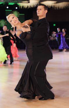 Charlene Proctor and Viktor Tkachenko dance the tango at the Emerald Ball Dancesport Championships, May 2017 in Los Angeles.