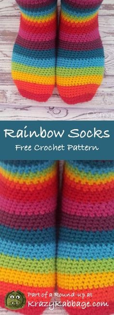 Rainbow Free Crochet Patterns – Krazykabbage #freepattern #crochet #rainbow #fashion #style #craft #diy
