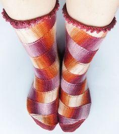carousel socks! Really cool!