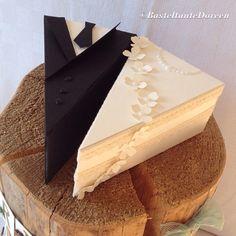 Thinlits Tortenstück Stampin up Cake Slice Boxes, Box Cake, Cake Slices, Cupcake Wedding Favors, Milk Carton Crafts, Wedding Boxes, Wedding Cards, Pie Box, Cricut Cake