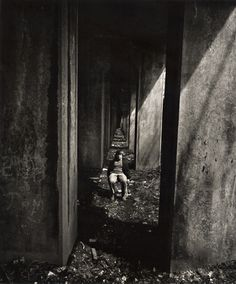 Photo Detail - Silver print by Arthur Tress - A Boy Sits under an Abandoned Railroad Track, Staten Island, NY Milwaukee Art Museum, Art Institute Of Chicago, Arthur Tress, Art Grants, Cincinnati Art, Fantastic Voyage, Vintage Words, San Francisco Museums, New York Museums