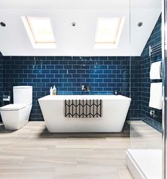 Loft bathroom with freestanding bath
