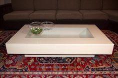tavolino laccato con cristallo #moderno