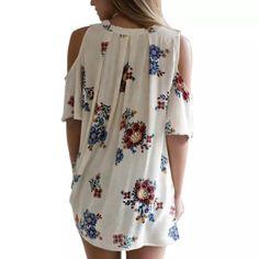 Cold Shoulder, Floral Tops, Women, Fashion, Moda, Cold Shower, Top Flowers, Fashion Styles, Fashion Illustrations