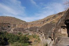 A world-renowned heritage site, the Ajanta Caves are one of the oldest cave monuments in India, dating back to the Century BC. Places Around The World, Around The Worlds, Monument In India, Ajanta Caves, India Travel Guide, Historical Monuments, Gandhi, Incredible India, Heritage Site