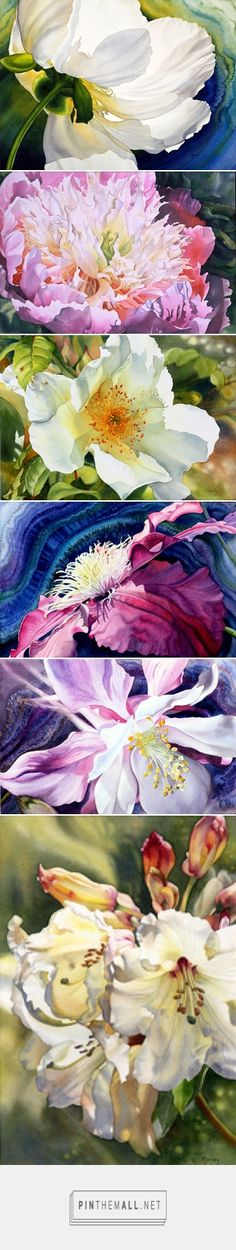 Lovely Watercolor Floral Paintings - Marney Ward SFCA, SCA, Artist