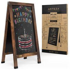 Chalkboard Stand, Large Chalkboard, Magnetic Chalkboard, Journey Store, Writing Area, Liquid Chalk Markers, Sandwich Board, Just Shop, Hand Lettering