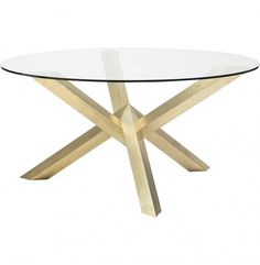Costello Dining Table, Gold - Furniture - Dining - Dining Tables