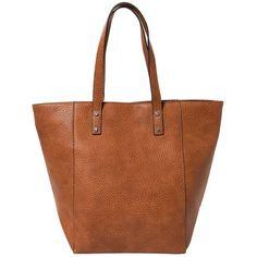 MANGO Pebbled Shopper Bag (£33) ❤ liked on Polyvore featuring bags, handbags, tote bags, top handle purse, shopping tote bags, zip tote bag, shopping bag and mango handbags