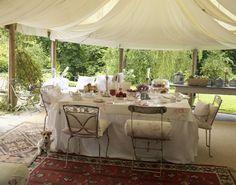 Pure decadence—alfresco dining—Summer—lookbook shoot❣ cabbagesandroses.com